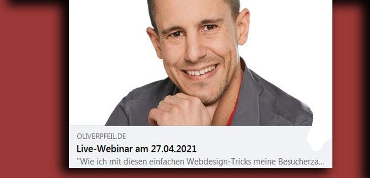 Oliver Pfeil gibt mit seiner neuen Akademie Wissen und Erfahrungen weiter. Und sagt am Seminar, wie man Web Besuche verdoppelt.